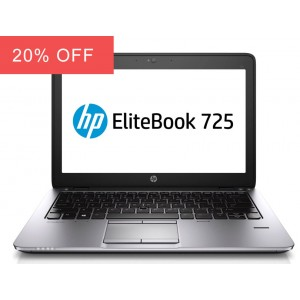 HP Elitebook 725 G2 Laptop Quad Core 128GB SSD HDD Warranty Windows 10