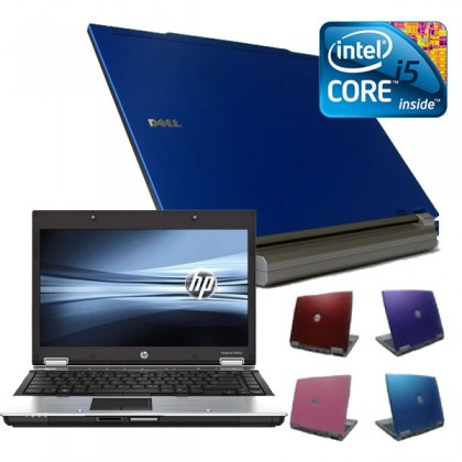 Coloured Intel i5 4gb, 160GB Widescreen Laptop, Red, Pink, Purple or Blue