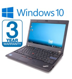 Lenovo Thinkpad X220 Laptop i5 2.60GHz 2nd Gen 8GB RAM, 250GB SSD HDD, 3 Year Warranty Windows 10 Webcam