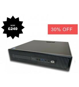 HP EliteDesk 705 G1 SFF 6th Gen AMD A6-7400B 3.50GHz 4GB 500GB  Windows 10 Professional Desktop PC Computer
