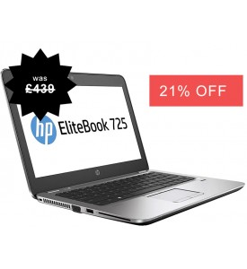HP Elitebook 725 G3 Laptop Quad Core 8GB 256GB SSD HDD Warranty Windows 10