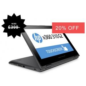 HP X360 310 G2 360° Touchscreen Quad Core 256GB SSD 2 in 1 Windows 10 Laptop