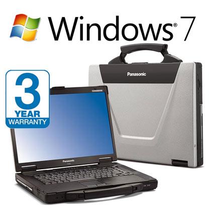 Panasonic Toughbook CF-52, 3 Year Warranty , 8GB RAM, 1TB HardDrive, Intel i5, Serial, Wireless Laptop