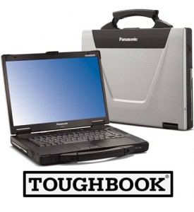 Panasonic Toughbook CF-52 Laptop, 8GB RAM, 500GB SSD HardDrive, Intel i5, Serial, Wireless