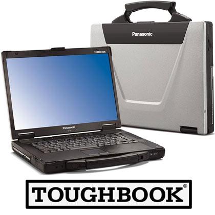 Panasonic Toughbook CF-53 Laptop, 4GB RAM, 500GB Hard Drive, Intel i5, Serial,Windows 7 Profesisonal